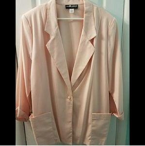 Vintage Pale pink 3/4 sleeve blazer plus